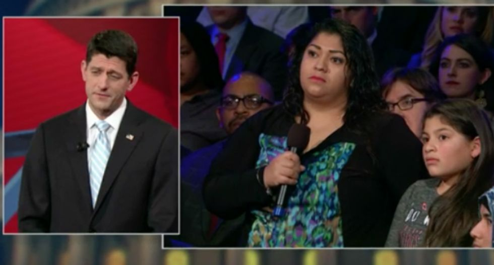 FLASHBACK: Paul Ryan tells undocumented mom she shouldn't be deported — and promises not to 'pull the rug' from under her