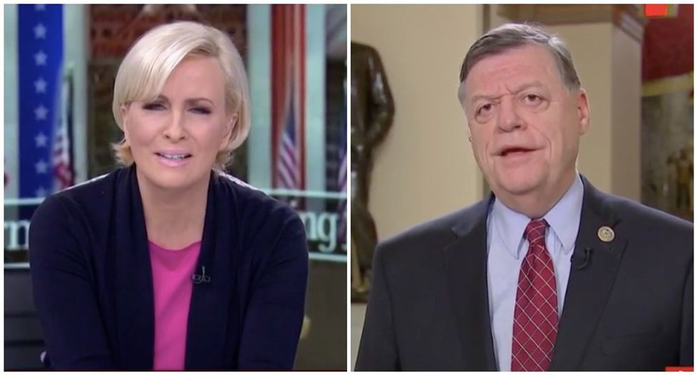 'Your bar is so low': MSNBC's Mika sickened by GOP lawmaker's fawning praise of Trump
