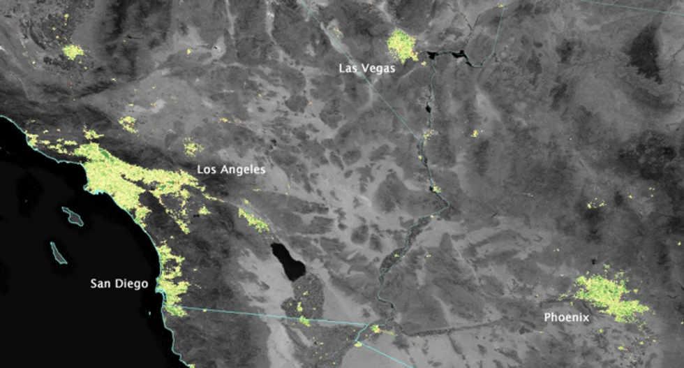 What holiday lights look like to NASA
