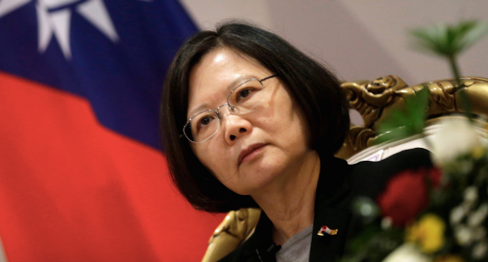 Fights break out as Taiwan's President Tsai Ing-wen visits New York