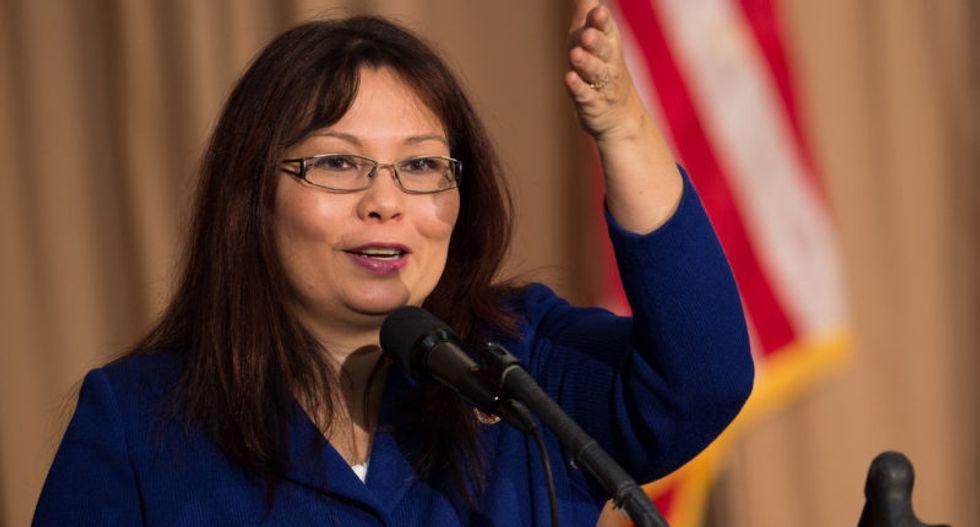 Tammy Duckworth becomes first sitting US senator to give birth