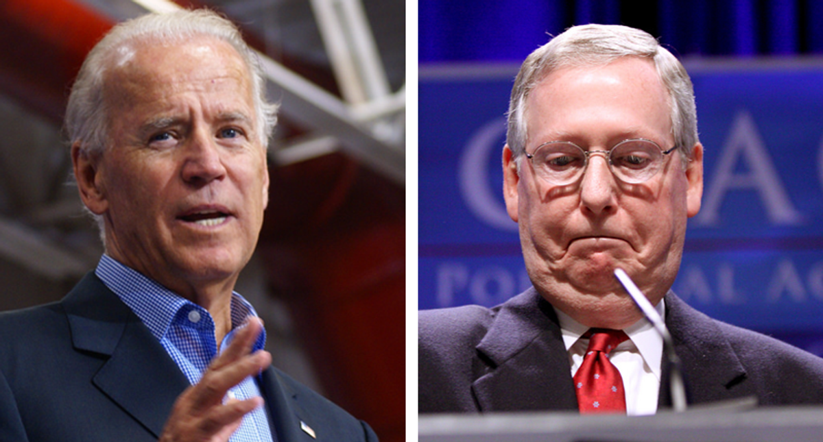 The GOP is falling into mass delusion — and the time is coming for Biden to call McConnell's bluff