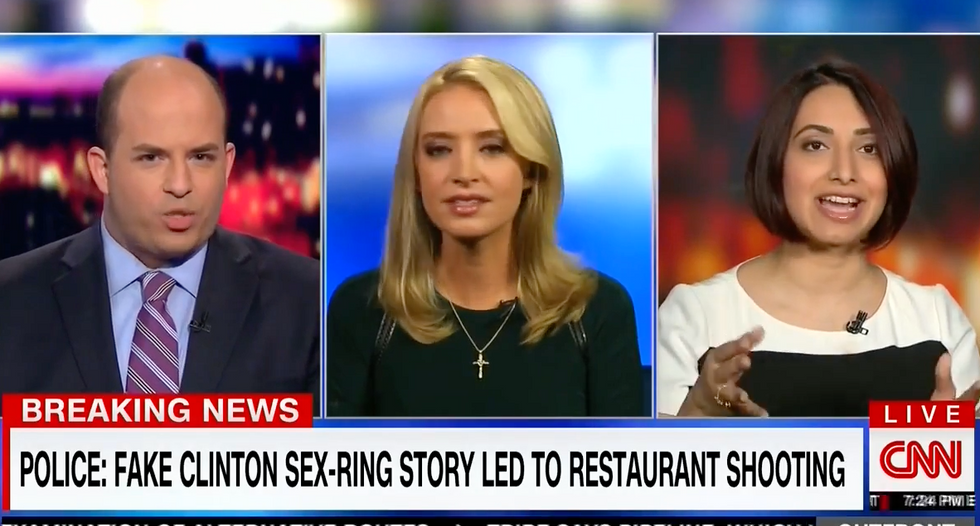 CNN panel goes off the rails as Kayleigh McEnany defends Trump transition member pushing 'pizzagate' conspiracy