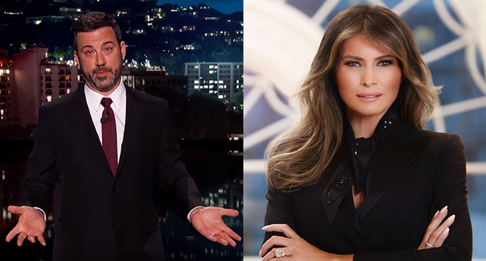 Jimmy Kimmel mocks Melania Trump's Davos cancelation: She stayed back 'to keep digging the escape tunnel'