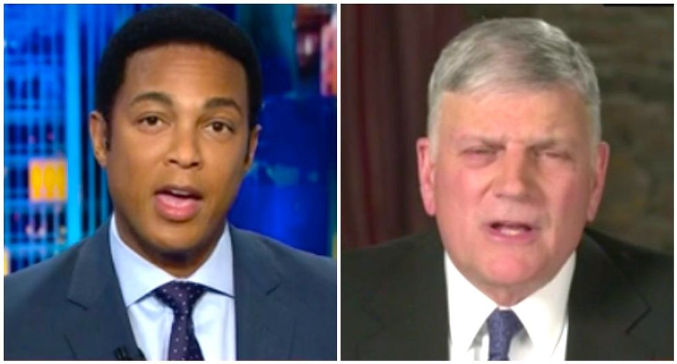 Don Lemon perfectly nails Franklin Graham's 'ends justify the means' moral hypocrisy on Trump