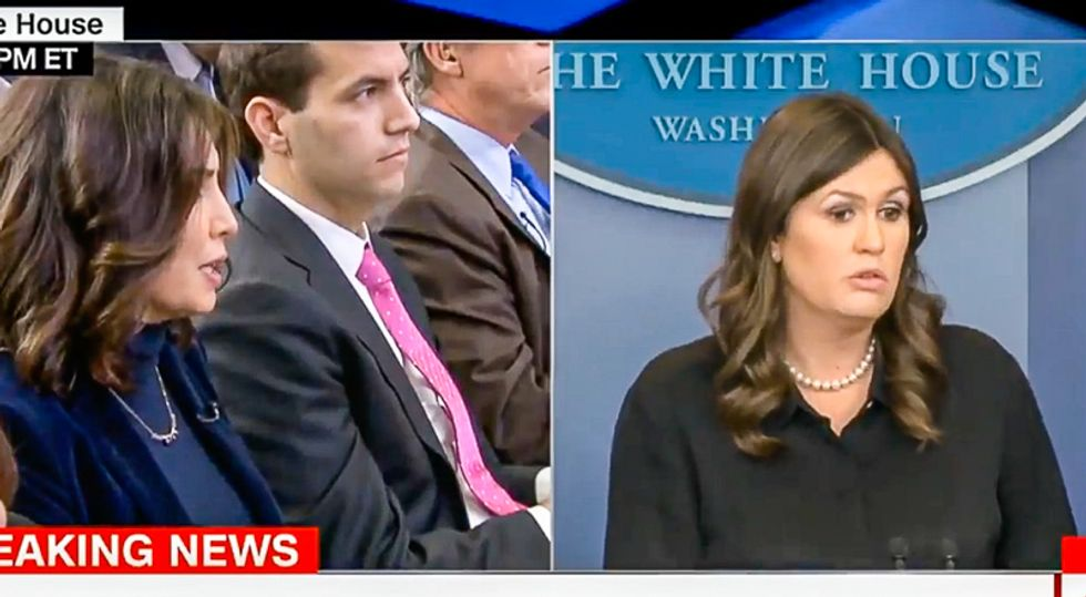 'It's a yes or no question': Reporter grills Sarah Sanders over Trump asking FBI officials who they voted for