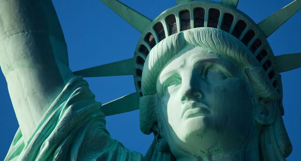 That Statue of Liberty poem everybody quotes? It's about a different refugee crisis -- but it's still relevant today