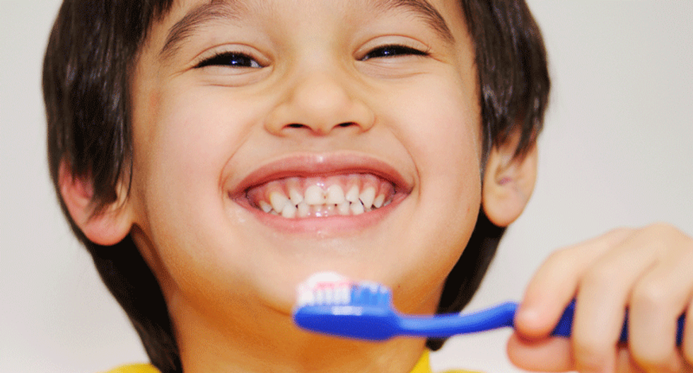 The fluorine in your toothpaste originates from the sun's dead ancestors