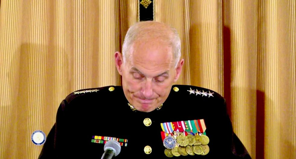 John Kelly and his wife sat with Michelle Obama at Gold Star family gathering after son's death: report