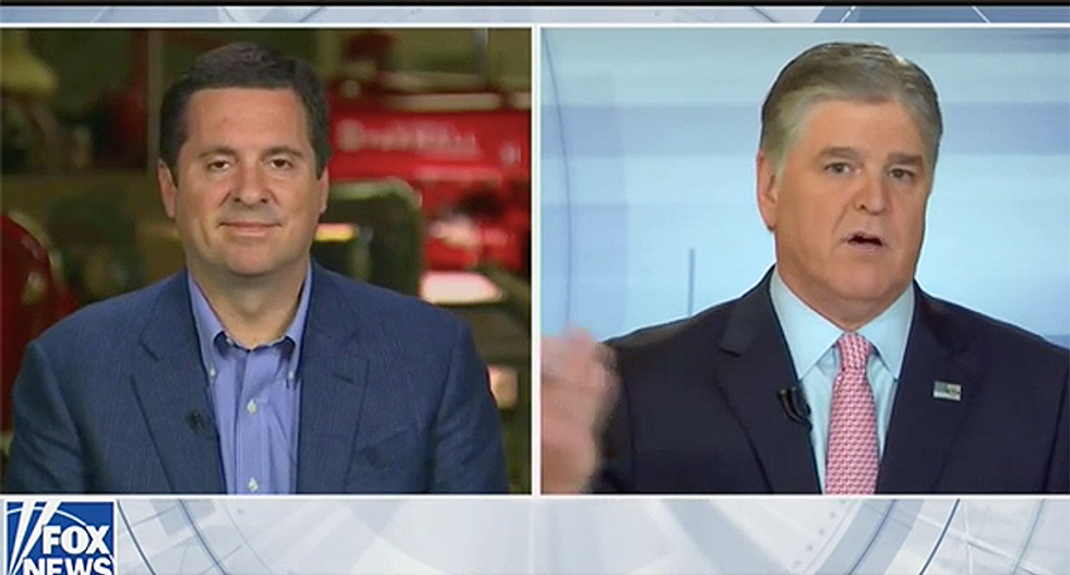Devin Nunes cries 'fake news' as the reason he is suing parody accounts in Sean Hannity interview