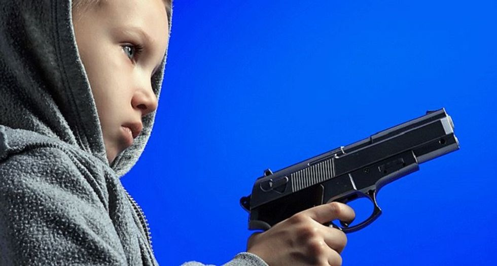 Officials horrified after first graders get ahold of gun meant to protect school against mass shootings