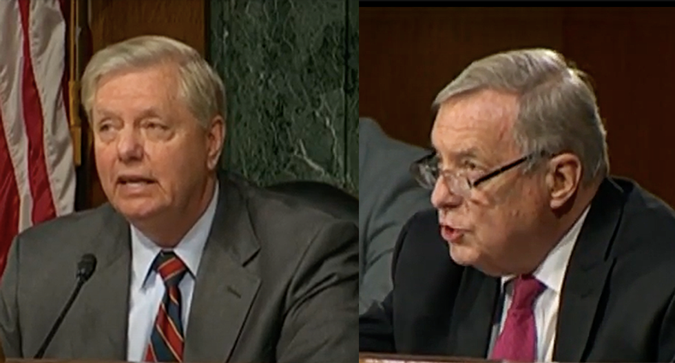 WATCH: Sparks fly as Lindsey Graham gets accused of holding McCabe hearing to appease Trump's grievances