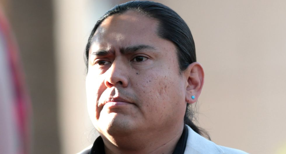 'Get out of the country!': Navajo lawmaker harassed by Arizona Trump supporters accusing him of being here 'illegally'