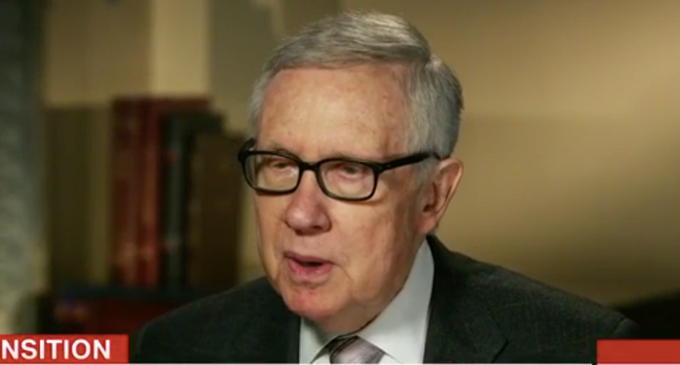 Harry Reid warns of Trump's mental state on CNN: 'There's something wrong with that man -- he's getting worse'