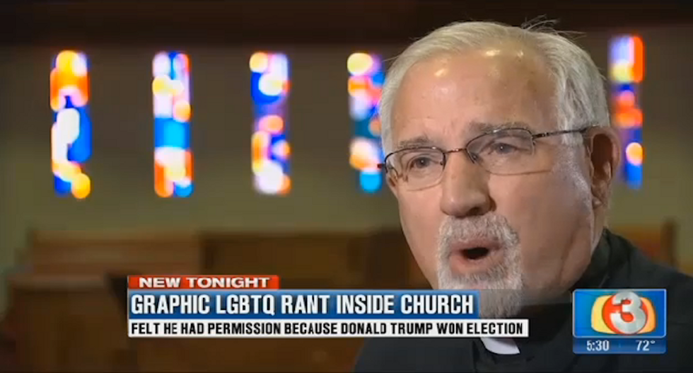 Unhinged Trump supporter barges into pro-LGBTQ church and threatens to spread fake pedophilia rumors