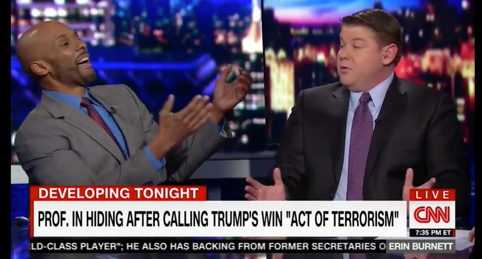 'What effing hypocrisy!': Ex-Clinton aide hammers CNN conservative demanding 'safe spaces' for Trump fans