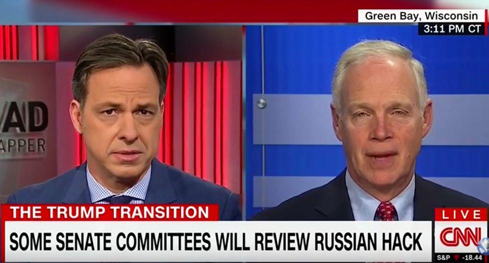 CNN's Jake Tapper takes shot at GOP senator for ducking question on Trump's failure to criticize Putin