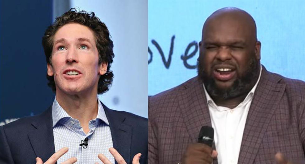 Joel Osteen's protégé says the devil is trying to 'mute' him after his mistress releases suggestive voicemails