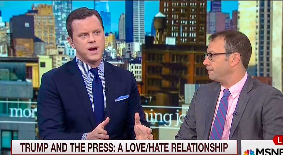 'We report factual or otherwise': Morning Joe host makes frightening Freudian slip
