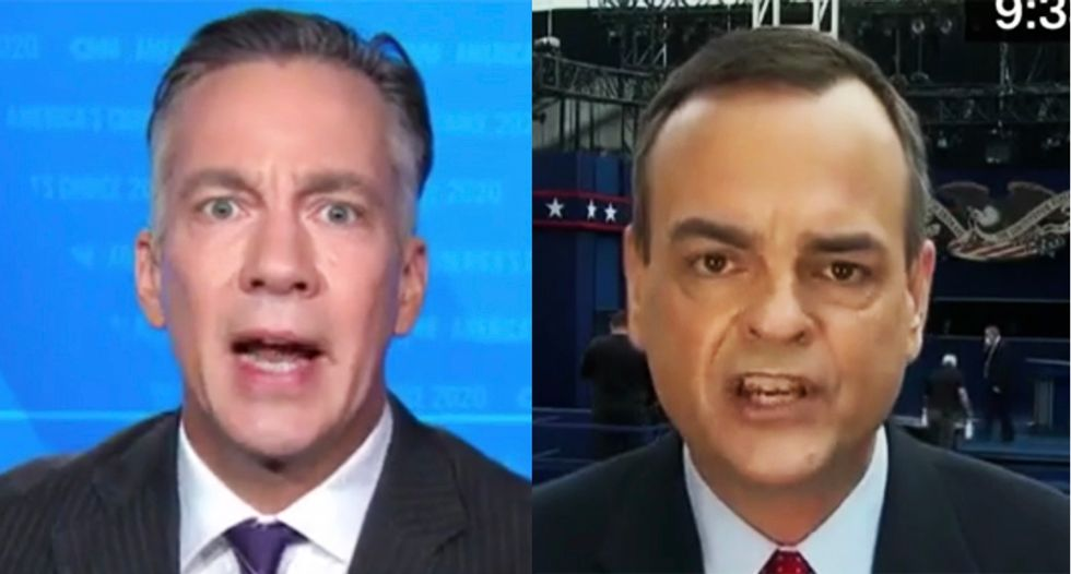 Trump spokesperson resorts to insulting CNN host in off-the-rails interview over president's tax scandal
