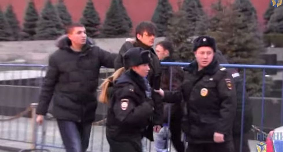 Protesters arrested after trying to raise Lenin from the dead using holy water