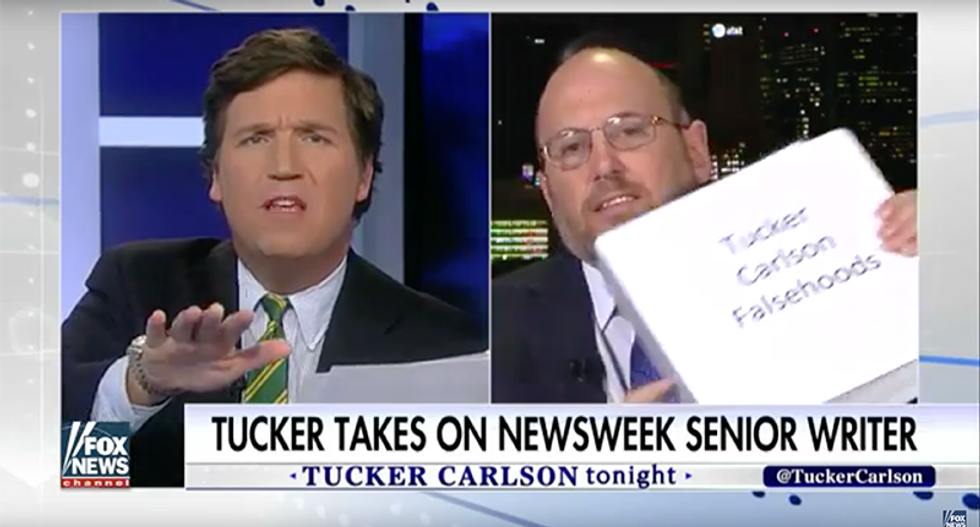 'You're not fooling anybody': Eichenwald challenges Tucker Carlson with a binder full of his falsehoods