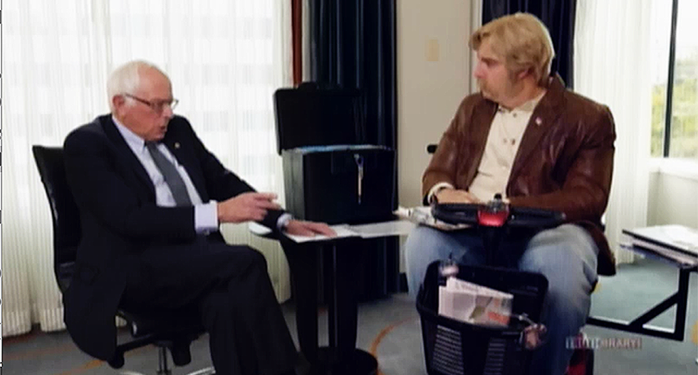 'I don't know what you're talking about': Bernie Sanders duped by Sacha Baron Cohen in right-wing disguise