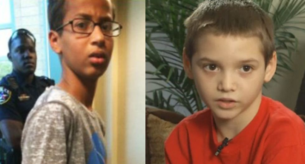 Nope -- Suspending Pop Tart kid is not the same as handcuffing and arresting Ahmed Mohamed