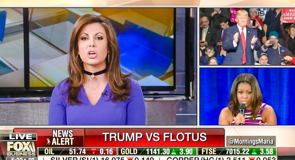 Fox pundit orders Michelle Obama to shush about Trump: 'Just smile and be helpful to Melania'