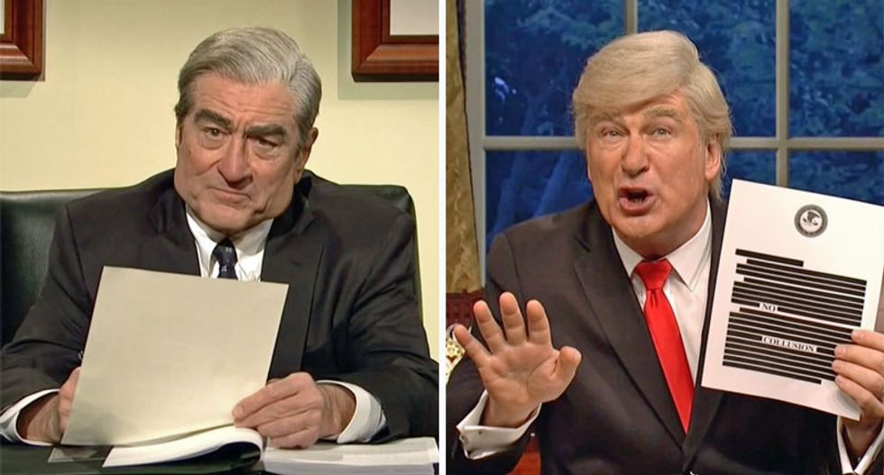 Watch SNL hilariously mock AG Barr and Trump for attempting to spin Mueller's report