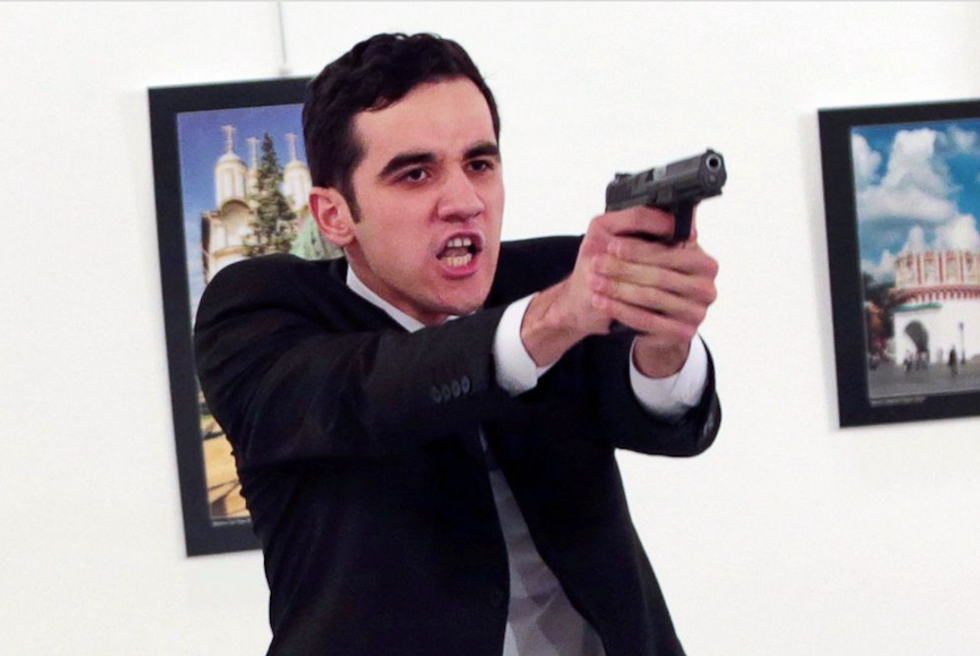 The cold-blooded killer of Russia's Turkey envoy
