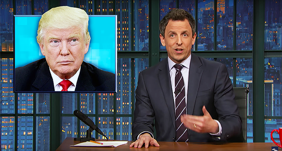 Seth Meyers rightly fears Trump spreading 'lies and conspiracy theories unfiltered' on Twitter