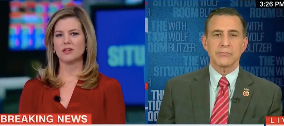 'You think Trump hasn't politicized intel?': CNN host rips Darrell Issa on Trump's Russia hack denial