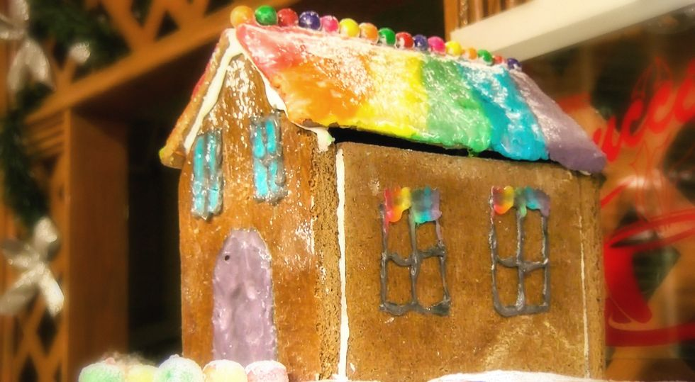 Teacher threatens to 'trash' student's rainbow gingerbread house: 'We have clubs for that'