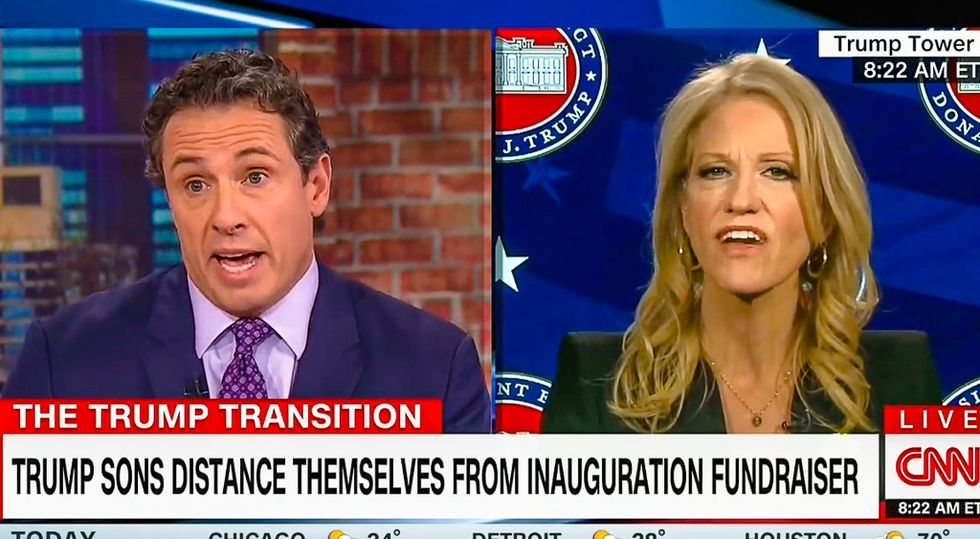 'It's paying money to get to power': Chris Cuomo destroys Conway for hypocrisy on Trump charities
