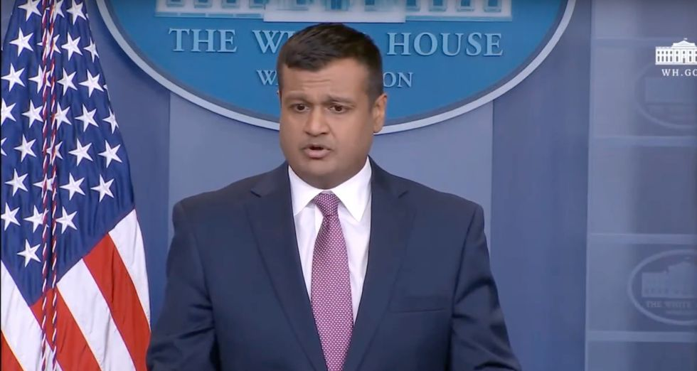 WATCH LIVE: Raj Shah holds White House press briefing after Stormy Daniels interview on '60 Minutes'