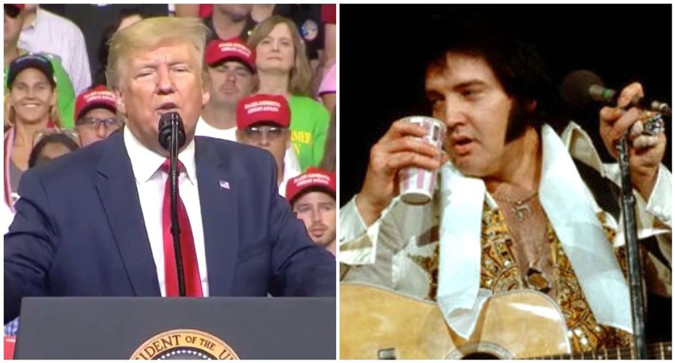 Morning Joe hilariously compares Trump 2020 to Elvis in 1977: 'Lumbering across the stage, trying to sing the old hits'