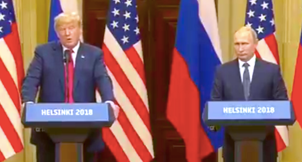The internet gasps at Trump's 'appeasement' of Putin's election interference: 'This president is completely owned'