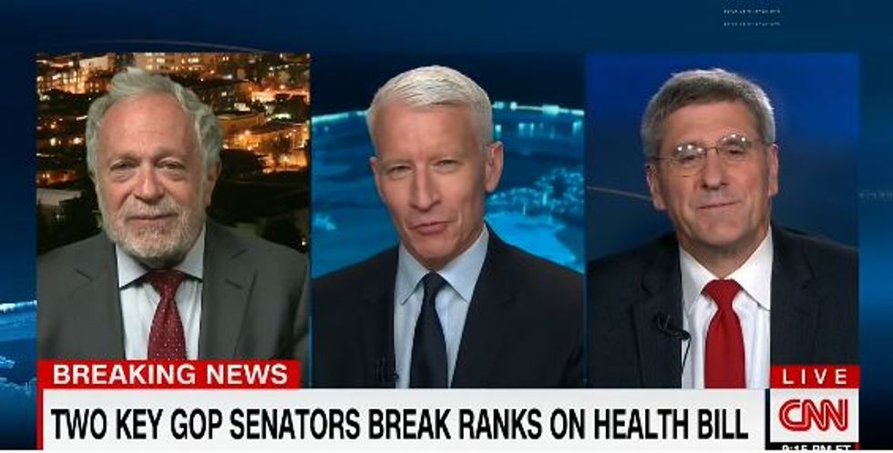 CNN panel goes off the rails when Robert Reich slams the door on conservative's Trumpcare illusions