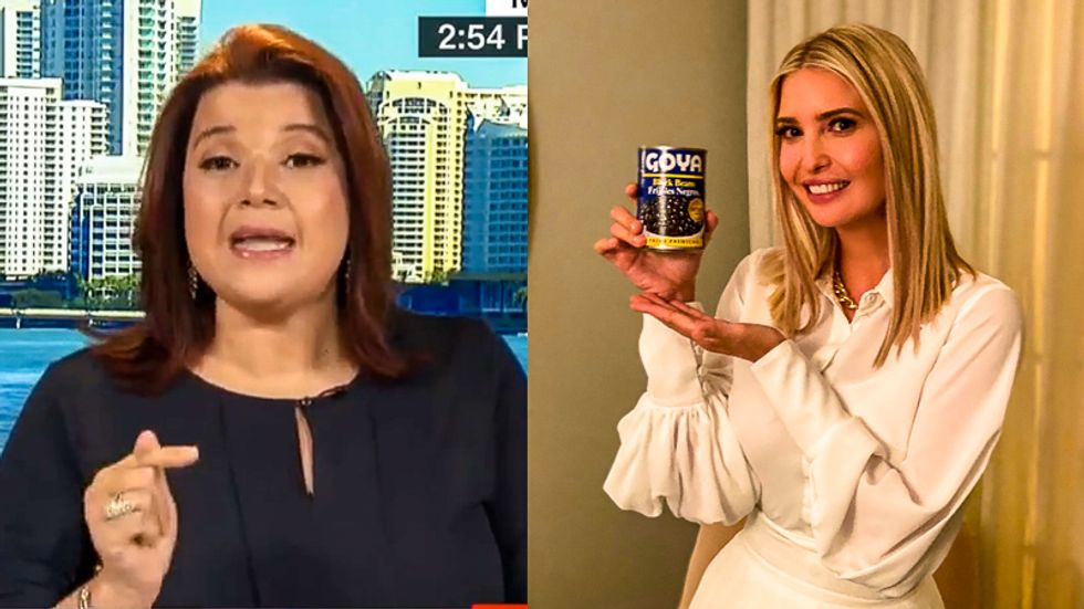 Ana Navarro rips Ivanka Trump's Latin food stunt: 'Dressing in white silk to cook a can of black beans'