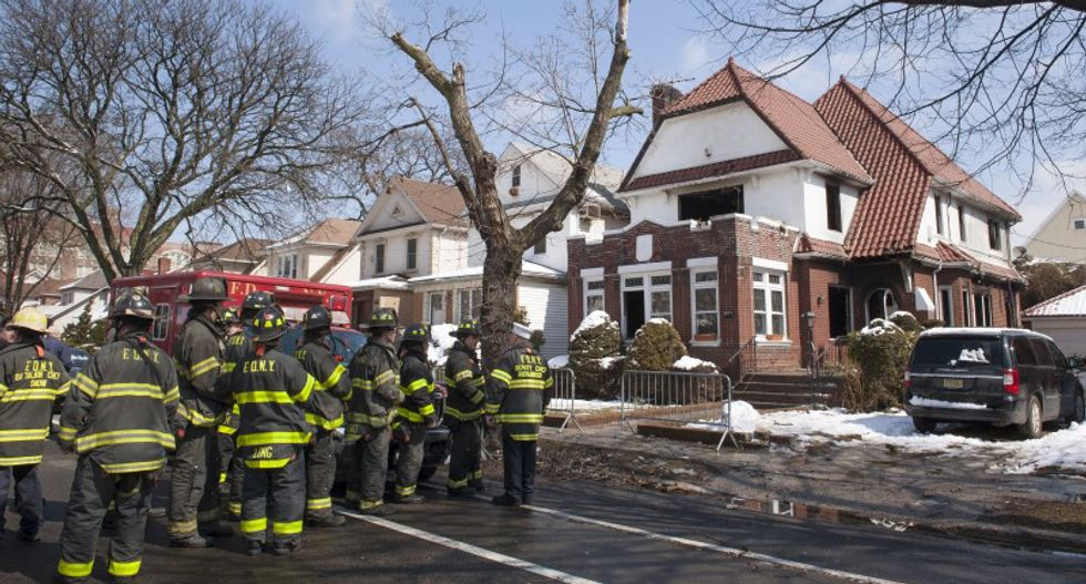 Sea of mourners turn out for funeral of seven Jewish children who perished in New York fire