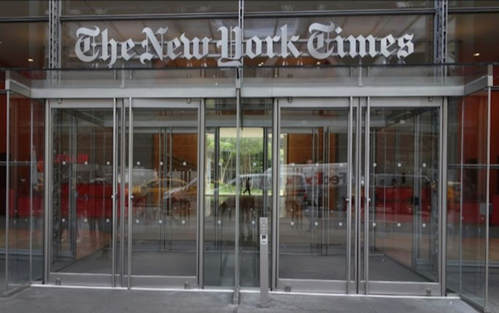 NY Times takes hit following weak advertising outlook