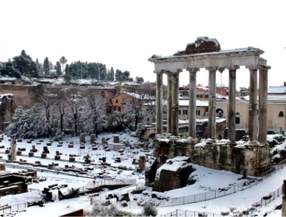 Cyclones in the Pacific made it snow in Rome, and soon that weather will hit the US
