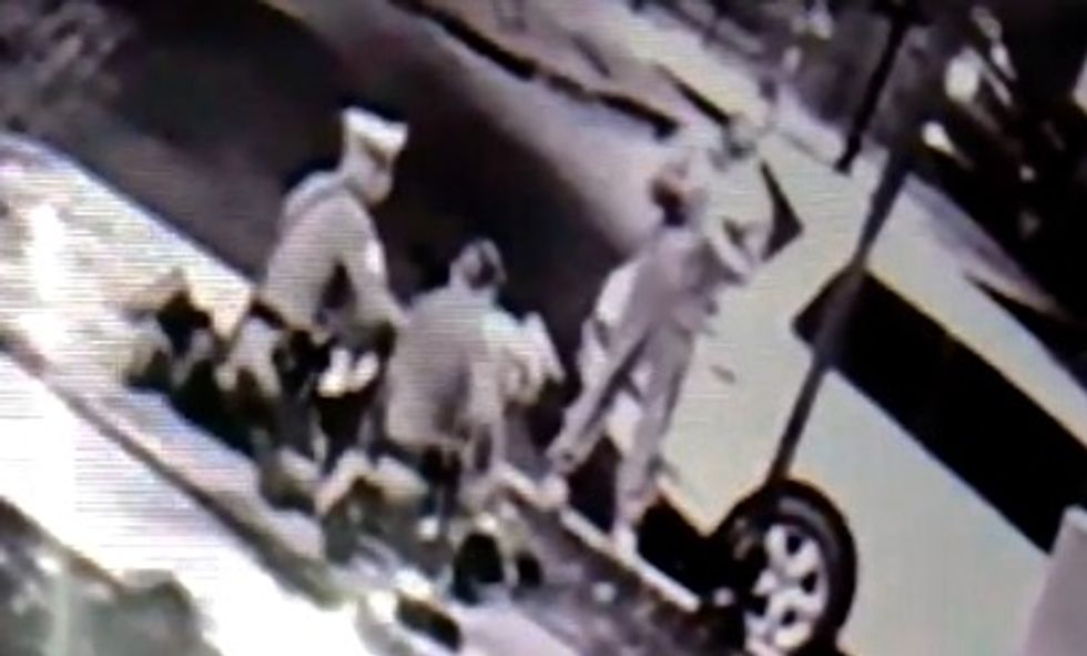 Video shows cop, now on leave, unleashing 12 punches to man's head