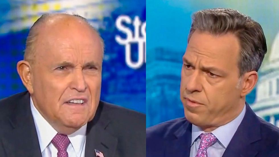 Rudy Giuliani melts under Jake Tapper grilling: 'There's nothing wrong' with getting help from Russians