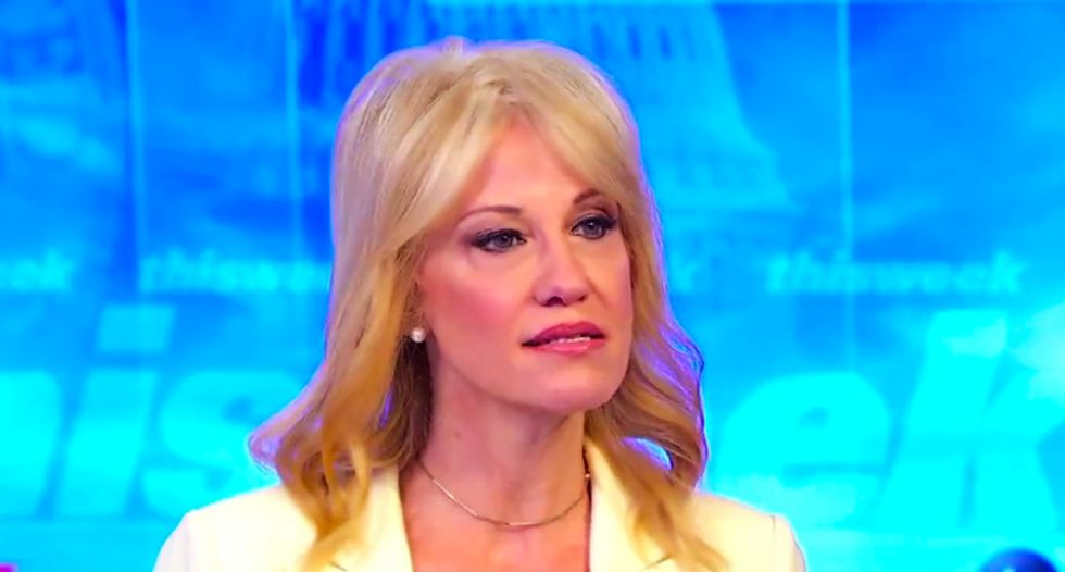 Watch Kellyanne Conway repeatedly duck questions over whether Trump demanded Mueller be fired