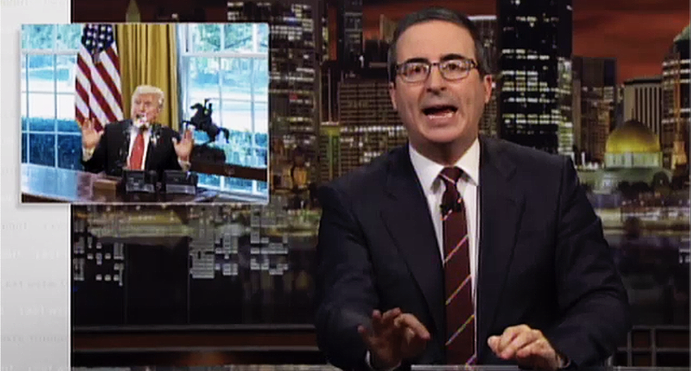 John Oliver paints the perfect picture of the moment Trump said 'My presidency is over. I'm f*cked'