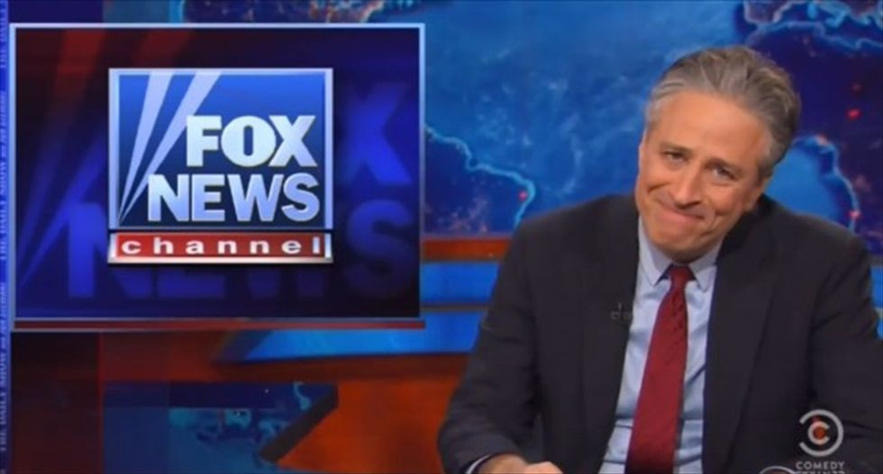 Jon Stewart compares Fox to teenager: You 'spend 24 hours a day jerking yourself off'