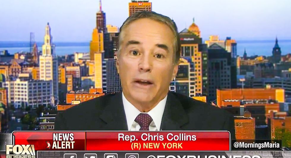 REVEALED: GOP congressman Chris Collins allegedly committed securities fraud while he was at Trump's White House