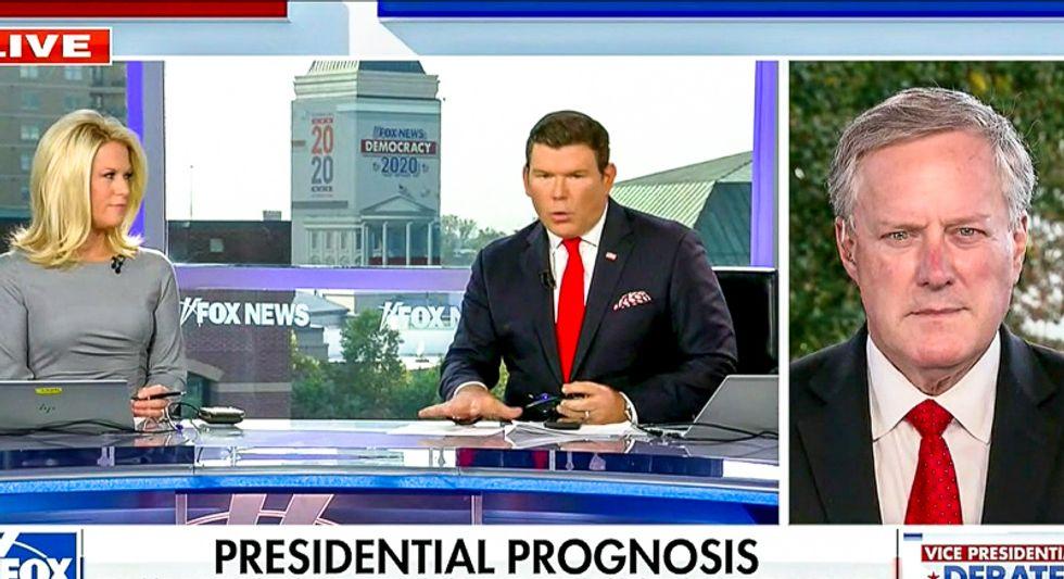 'It's so important': Alarmed Fox News hosts beg Mark Meadows to stop hiding Trump's last negative test